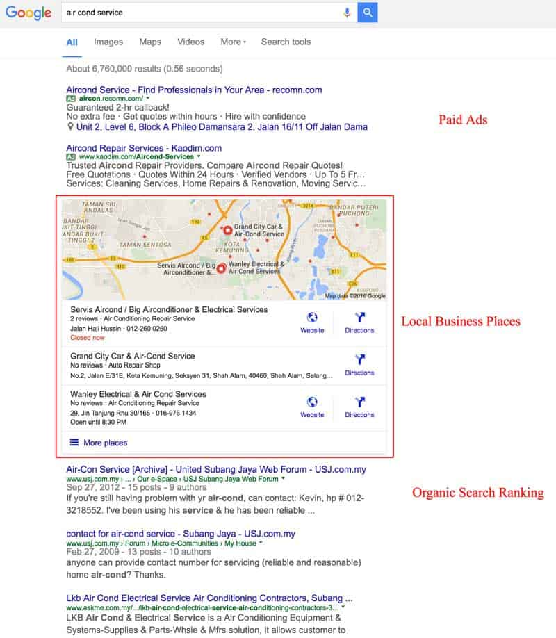 Google Local SEO Local Business Listing